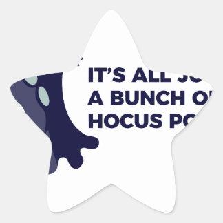 Pegatina En Forma De Estrella Diseño de Halloween del abucheo del fantasma de la