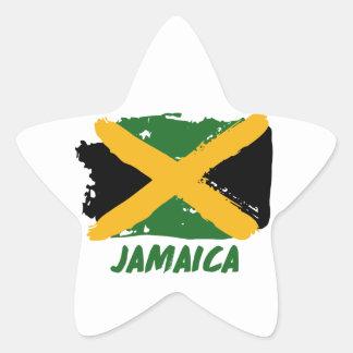 Pegatina En Forma De Estrella Diseño de la bandera de Jamaica