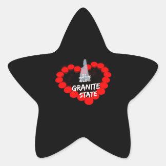 Pegatina En Forma De Estrella Diseño del corazón de la vela para el estado de