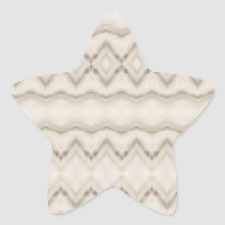 Pegatina En Forma De Estrella Diseño tribal del modelo de zigzag de la pluma