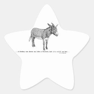 Pegatina En Forma De Estrella DIY DonkeyUnicorn ver2