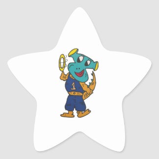 Pegatina En Forma De Estrella DragonAngle