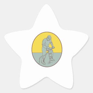 Pegatina En Forma De Estrella Drenaje oval de funcionamiento del martillo