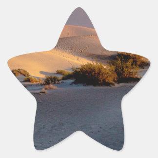 Pegatina En Forma De Estrella Dunas de arena planas del Mesquite Death Valley