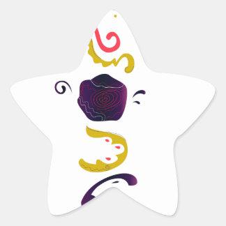 Pegatina En Forma De Estrella Edición popular bordada handdrawn de lujo