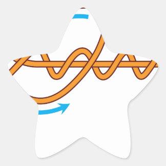 Pegatina En Forma De Estrella ejemplo mproved del diagrama del vector del nudo