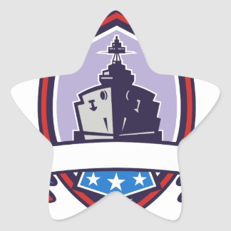 Pegatina En Forma De Estrella El acorazado protagoniza el escudo de las rayas
