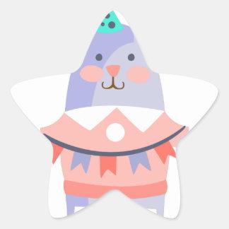 Pegatina En Forma De Estrella El conejo con el fiesta atribuye enrrollado