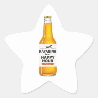 Pegatina En Forma De Estrella El Kayaking es mi hora feliz