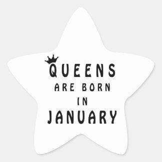 Pegatina En Forma De Estrella El Queens nace en enero