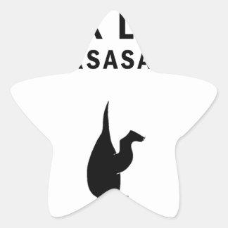 Pegatina En Forma De Estrella el t-rex ama sirsasaniana