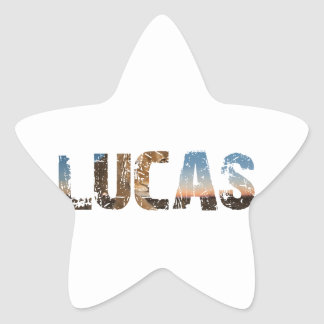 Pegatina En Forma De Estrella El TENDER y diseños frescos del nombre de Lucas