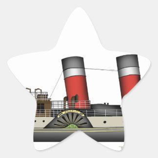 Pegatina En Forma De Estrella El vapor de paleta Waverley de Tony Fernandes