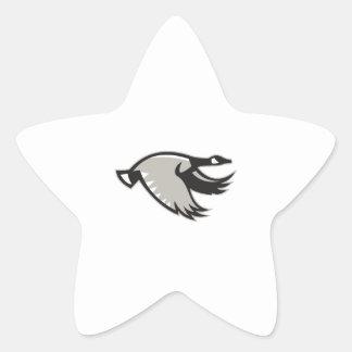 Pegatina En Forma De Estrella El volar del ganso de Canadá retro