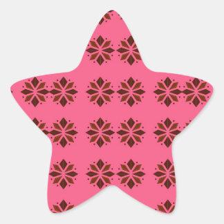 Pegatina En Forma De Estrella Elementos del diseño en rosa