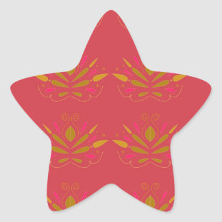 Pegatina En Forma De Estrella Elementos del oro en rosa