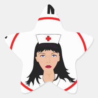 Pegatina En Forma De Estrella Enfermera de Nicole