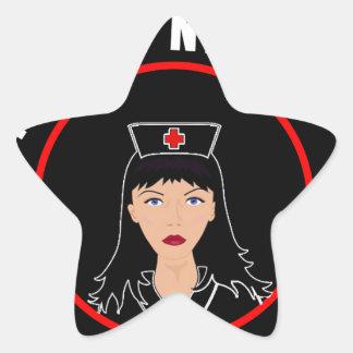 Pegatina En Forma De Estrella Enfermera Nicole