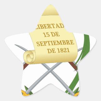 Pegatina En Forma De Estrella Escudo de armas de Guatemala - escudo de armas