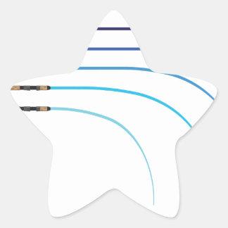 Pegatina En Forma De Estrella Espacios en blanco curvados vector doblado de la