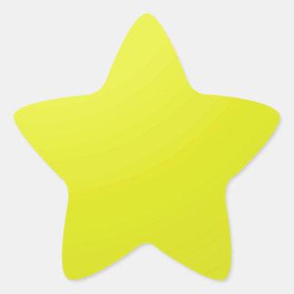 Pegatina En Forma De Estrella Espacios en blanco de oro amarillos de la sombra
