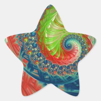 Pegatina En Forma De Estrella Espiral brillante