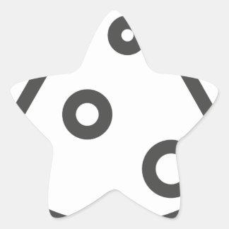 Pegatina En Forma De Estrella Esquema de la pizza