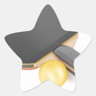 Pegatina En Forma De Estrella Estafa y bola de tenis de mesa