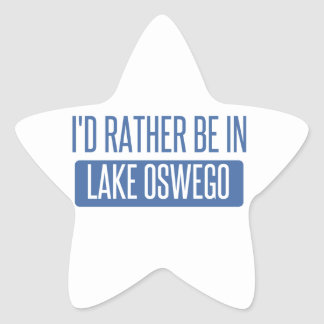 Pegatina En Forma De Estrella Estaría bastante en el lago Oswego