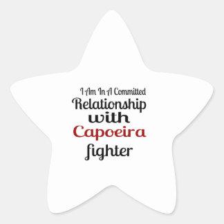Pegatina En Forma De Estrella Estoy en una relación confiada con el higo de