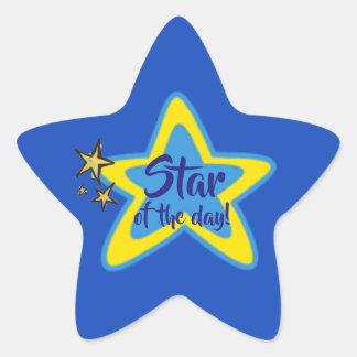 Pegatina En Forma De Estrella Estrella de los pegatinas del estudiante de día