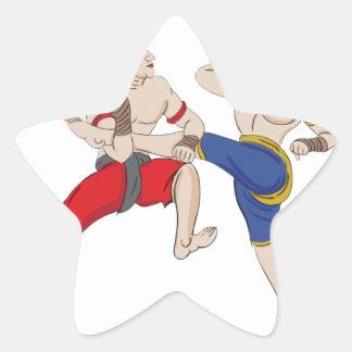 Pegatina En Forma De Estrella Excesivo tailandés de Muay todo