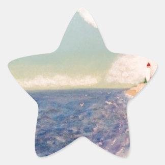 Pegatina En Forma De Estrella faros distantes