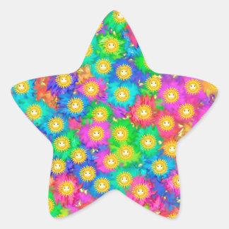 Pegatina En Forma De Estrella Felicidad