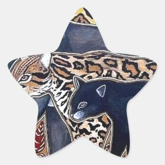 Pegatina En Forma De Estrella Felinos de Costa Rica - Big cats