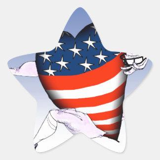 Pegatina En Forma De Estrella fernandes tony ruidosos y orgullosos de Michigan,