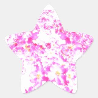 Pegatina En Forma De Estrella Flor rosado del Dogwood
