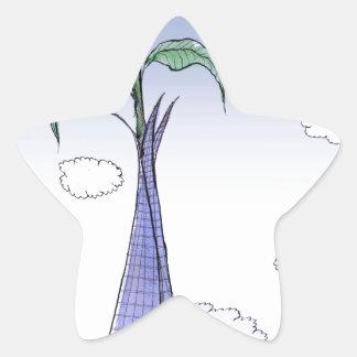 Pegatina En Forma De Estrella Flower power de ShardArt de Tony Fernandes