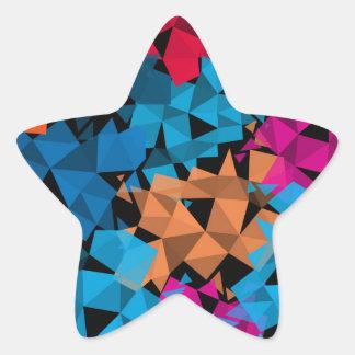 Pegatina En Forma De Estrella Formas geométricas coloridas 3D