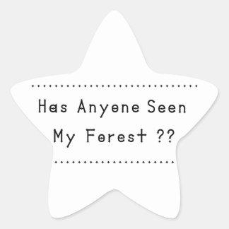 Pegatina En Forma De Estrella Forrest