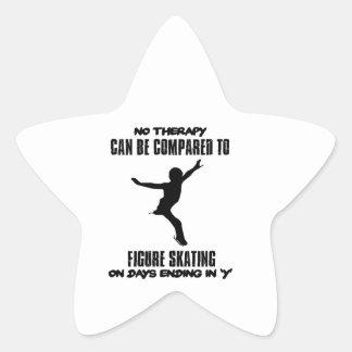 Pegatina En Forma De Estrella fresco y tendiendo DISEÑOS del patinaje artístico