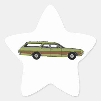 Pegatina En Forma De Estrella furgoneta retra