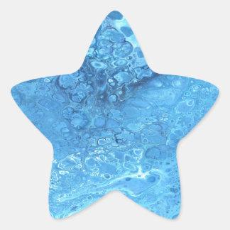 Pegatina En Forma De Estrella Galaxia azul