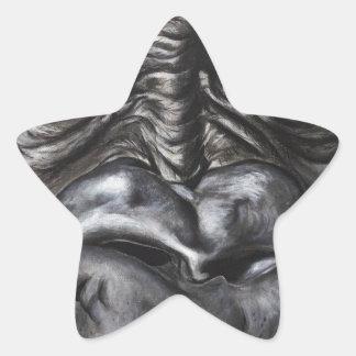 Pegatina En Forma De Estrella Gorila