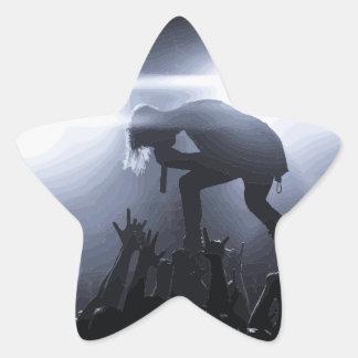 Pegatina En Forma De Estrella ¡Grítelo hacia fuera!