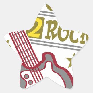 Pegatina En Forma De Estrella Guitarra nacida de la roca, diseño del guitarrista