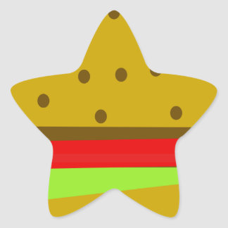 Pegatina En Forma De Estrella Hamburguesa de los alimentos de preparación rápida
