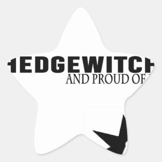 Pegatina En Forma De Estrella Hedgewitch y orgulloso de él