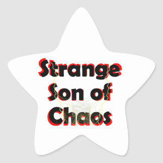 Pegatina En Forma De Estrella Hijo extraño del caos