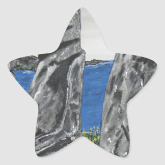 Pegatina En Forma De Estrella Hombres de la piedra de la isla de pascua